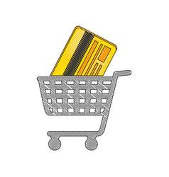 Shopping cart symbol vector