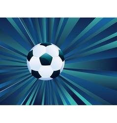 Soccer Ball on Rays Background10 vector