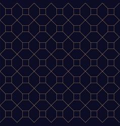stylish seamless blue geometric background grid vector image