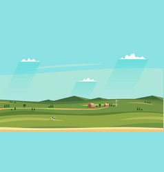 summer counryside landscape horizontal rural vector image