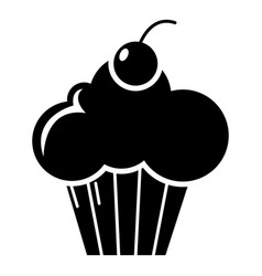 Sweet cupcake icon simple style vector
