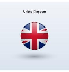 United Kingdom round flag vector