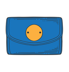 Wallet concept in doodle and sketch style vector