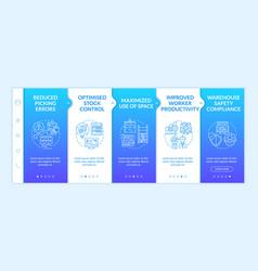Warehouse process optimization onboarding template vector