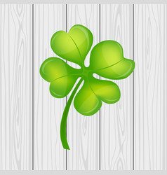 four leaf clover on st patrick s day vector image