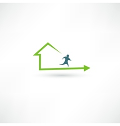 Home fitness icon vector image vector image