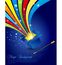 Magic wand and box vector