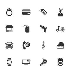 Pawnshop icons set vector