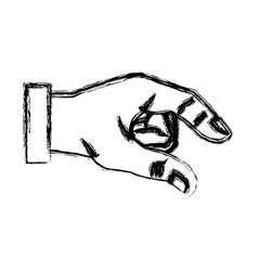 sketch hand man business gesture icon vector image