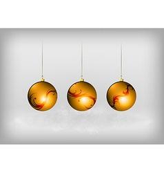 christmass three ball red vector image