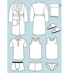 Mans bathroom garments vector image vector image