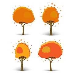 Set of of trees of different shapes vector image vector image