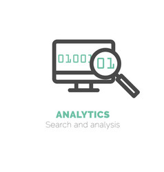simple icon of analytics flat bicolor line vector image vector image