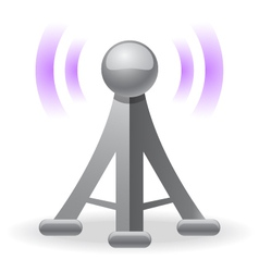 wireless tower icon vector image