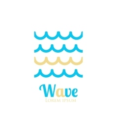 Abstract wavy icon Company logo or presentations vector image vector image