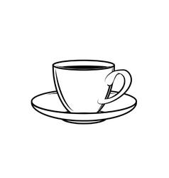 classic teacup white vector image vector image