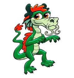 cute asian dragon vector image