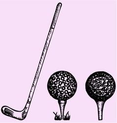 Golf club ball playing vector image vector image