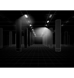Interior in lines vector image