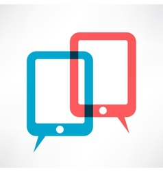 two ipads vector image