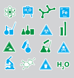 chemistry color stickers set eps10 vector image