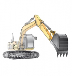 crawler excavator carcass vector image vector image