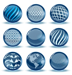 Glossy spheres set vector image vector image