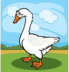 goose bird farm animal cartoon vector image vector image