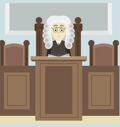 hand drawn legal judge vector image
