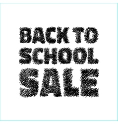 Hand drawn with pen Back to school SALE icon vector image vector image