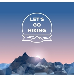 Polygonal Mountains vector image