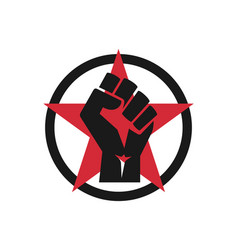 raised fist logo icon - isolated vector image