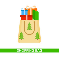 shopping paper bag with presents vector image
