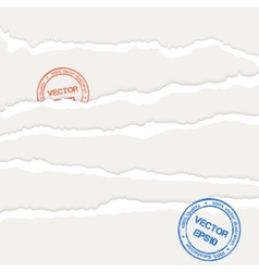 Torn papers sheets vector image