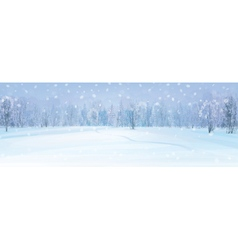 winter fores background vector image vector image