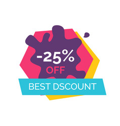 25 off best discount label vector image