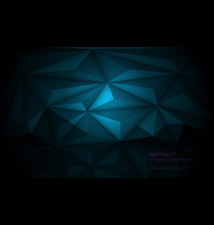 3d geometric polygon line triangle pattern shape vector image