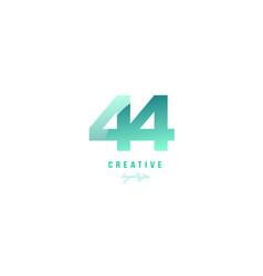 44 green pastel gradient number numeral digit vector
