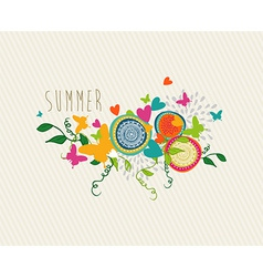 Abstract floral background design vector