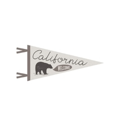 Adventure pennant Welcome to California flag vector