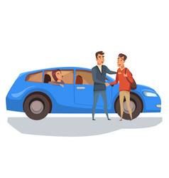 Automobile purchase flat vector