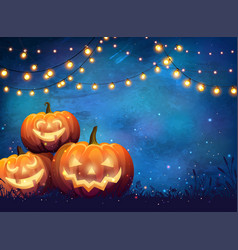 Autumn halloween party poster vector