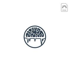 Brain logo design for health care business icon vector
