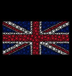 British flag mosaic of air plane icons vector