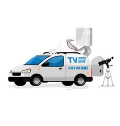 Broadcasting equipment vector