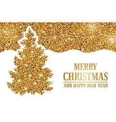 Christmas gold headline vector
