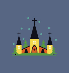 Church icon for religion architecture design vector
