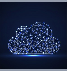 cloud of glowing lines and dots abstract vector image