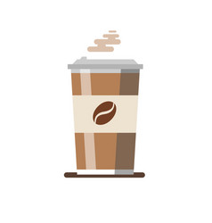 coffee cup isolated on vector image
