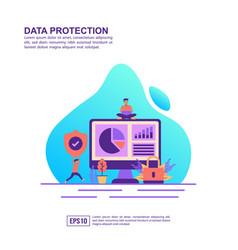 concept data protection modern conceptual for vector image